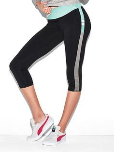 Flat Waist Yoga Crop Leggings PINK