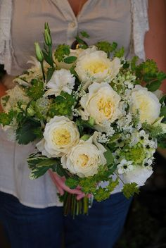 similar style posy like this but not so much green and in soft pinks and whites