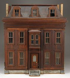 Dioramas and Clever Things: Antique Dollhouses made from wood.