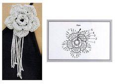 Crocheted flowers - Annie Mendoza - Álbuns da web do Picasa...pretty brooch!
