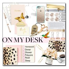 """""""On My Desk"""" by selena-gomezlover ❤ liked on Polyvore featuring interior, interiors, interior design, home, home decor, interior decorating, Kate Spade, Montblanc, Nordstjerne and Dansk"""