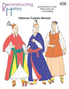 16th century Turkish Woman | 17th Century Turkish Woman | Ottoman Woman's Costume