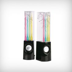 Cool Illuminated Dancing Water Speakers   Cool Feed.me - Cool Stuff To Buy And Drool Over