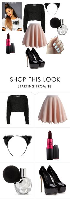 """Focus on me( Ariana grande)"" by tendaimurray ❤ liked on Polyvore featuring Pilot, Chicwish and MAC Cosmetics"