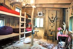 philip gorrivan tree house interior with bunk beds treehouse fantasy come life connecticut
