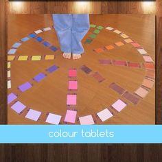 Montessori Graded Colour Tablets by jojoebi on Etsy Montessori Color, Montessori Preschool, Montessori Education, Maria Montessori, Sensory Language, Matching Cards, Practical Life, Primary Classroom, Color Box