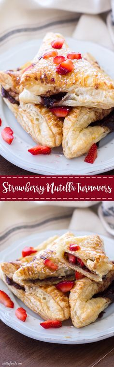 This easy chocolate turnover recipe is filled with strawberries and Nutella to make the perfect breakfast, brunch, or dessert! These Strawberry Nutella Turnovers are simple, delish, and chocolatey. (awsome things to bake) Köstliche Desserts, Best Dessert Recipes, Sweet Recipes, Delicious Desserts, Pastry Recipes, Baking Recipes, Baking Ideas, Turnover Recipes, Desserts
