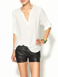 Collective Concepts Drape Sleeve Blouse | Piperlime