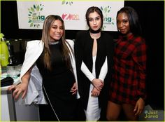 Fifth Harmony Hit Up Z100's Jingle Ball After Candie's Winter Bash Concert - See All The Pics!: Photo #905215. Fifth Harmony raise their arms for a group bow after performing at Z100's Jingle Ball 2015 held at Madison Square Garden on Friday night (December 11) in New York…