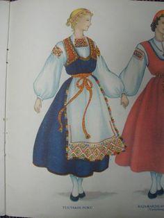 Tuuterin puku ja muut Suomen kansallispuvut. Finnish national costumes.