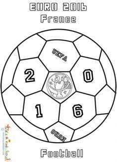 7b00c00af1b2 Coloriage d un ballon Euro 2016 de football - Coloriage EURO 2016