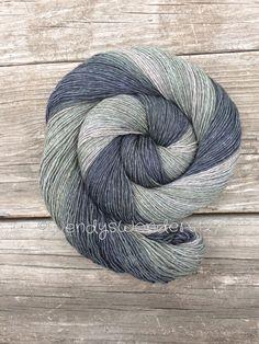 Yak Sock Yarn Gradient Yarn Sage Hand Dyed by WendysWonders127