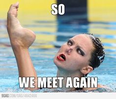 I laughed so hard.  Synchronized Swimming is such an entertaining sport to watch!