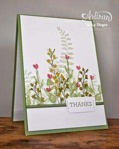 Flowering fields card