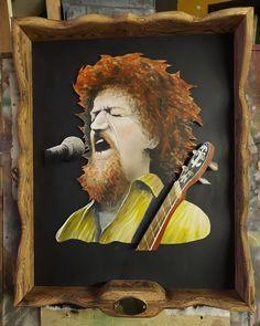 A recent commission Luke Kelly portrait Bob The Builder, Iconic Movies, Studios, Vibrant, Portrait, Disney Characters, Painting, Instagram, Art
