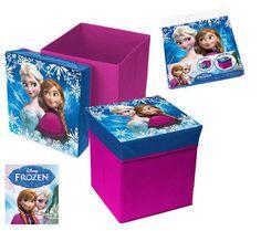 Frozen Caja-Puff acolchada 31x31x33 Frozen LICENZE. ALCO Distribuzioni, Distributore di vendita all ingrosso.
