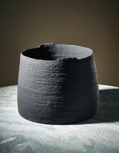 KATI TUOMINEN-NIITTYLÄ Unique 'Against the Light' vessel 2013  Stoneware. 30.2 cm (11 7/8 in.) high, 38 cm (14 7/8 in.) diameter Produced by Arabia, Helsinki, Finland.