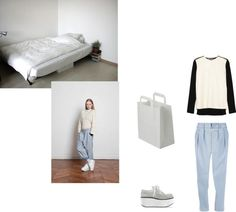 """light denim"" by daydream28 ❤ liked on Polyvore"