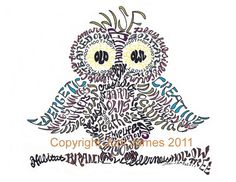 Wise Old Owl Word Art Calligram Typography or by CalligramORama, $21.50  SOO perfect for a classroom!