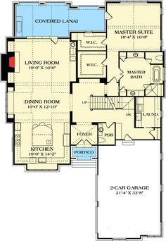 Master Suite❤️Part of master closet turns into small office / computer room. Eliminate one upstairs bathroom. Bonus room could be MIL suite. Best House Plans, Dream House Plans, Small House Plans, House Floor Plans, Open Concept House Plans, Open Floor House Plans, The Plan, How To Plan, Master Closet
