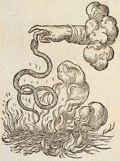 Snake biting the Hand of God