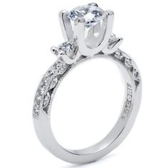 The way the diamond sits atop this Tacori really makes this ring a showstopper!   HT 2259 1 2X <3CapriJewelers