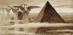 "Wilhelm Kotarbinsky (1849-1921), ""The Angels of the Pyramids"""
