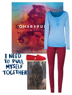 """Onerepublic"" by rachellovesbooks24 ❤ liked on Polyvore featuring Kaporal, True Religion and TOMS"