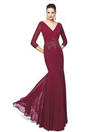Pronovias > NEREA - burgundy mermaid cocktail dress. Pronovias 2015