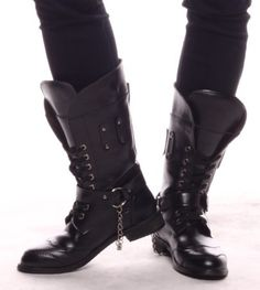 12 male high-leg boots european version of the fashion punk boots ...