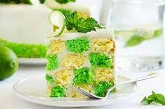 Gâteau damier citron vert et vanille