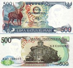 Indonesia  500 Rupiah 1988 (stag)