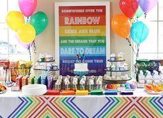 rainbow dessert table 2