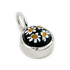 Black And White Murano Glass Millefiori 8mm Round Sterling Silver Pendant Millefiori. $19.80. Authentic Murano Glass from Italy. Designer Jewelry by Alan K.. Handmade (patterns and colors may slightly vary)