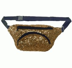 Gold Sequin Sequin Fanny Pack