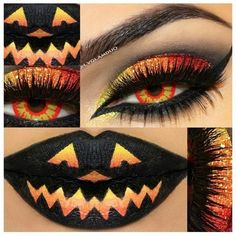 15 Scary Halloween Zombie Eye Make Up Looks Ideas For Girls 2014 ❤ liked on Polyvore featuring makeup, eyes, beauty, lips and halloween