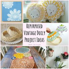 A vintage doily is more than meets the eye- it's a blank canvas for plenty of repurposing and upcycling project ideas. Get inspired with this collection!