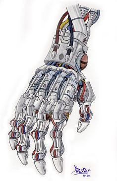 Mecha Hand by Elfigos #character - More Character Designs at Stylendesigns.com!