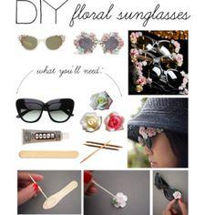DIY: Floral Sunglasses