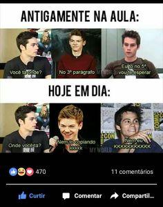 Kkkkkk Teen Wolf Memes, Wtf Funny, Funny Memes, Jokes, Portuguese Funny, Aurora Disney, Otaku Meme, Nostalgia, Fujoshi
