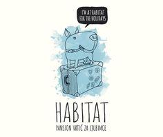 Habitat Pet Kindergarden Visual Identity by Leo Vinkovic, via Behance