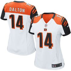 332d6e1469 Andy Dalton Cincinnati Bengals Nike Women s Game Jersey - White Camisa De Futebol  Americano