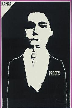 Roman Cieslewicz. Kafka Proces (Kafka's Trial). 1964