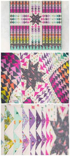 Wayfinder quilt kit by Craftsy. FreeSpirit Spirit Animal fabrics by Tula Pink. Inspired by Native American artwork, designer Tula Pink created a stunning collection sure to release your inner spirit animal. With geometric piecing, fun and fancif
