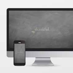 Thankful gold foiled wallpaper download freebie for your desktop + phone.