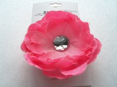 Easter Pink Hair Flower Clip  Accessories  by ShabbyUniqueChic, $3.50