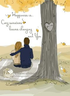 Love at autumn. ❤Cozy .being together....L.Loe