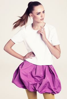 h&m; pink bubble skirt