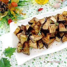 Melanzane a tocchetti al forno - Ricetta Il Cuore in Pentola Buffet, French Toast, Food And Drink, Pork, Veggies, Chicken, Cooking, Breakfast, Recipes