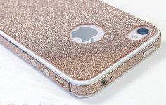 Cool Sand colour Shiny Rhinestone Full Body Cover Skin Sticker Shield For iPhone 4S/5